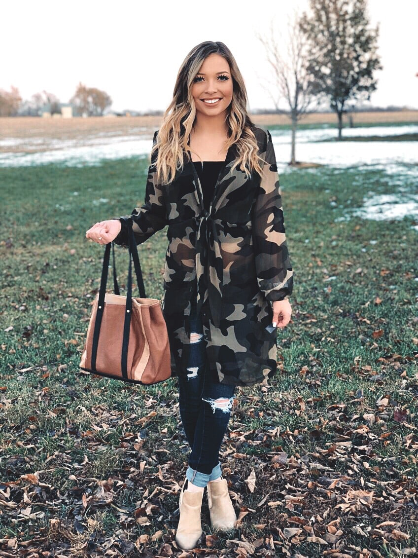 Camo Tie-up Jacket