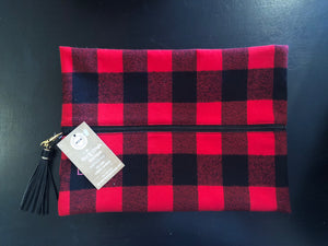 Fireside Red & Black Makeup Bag - Mix & Mingle Boutique