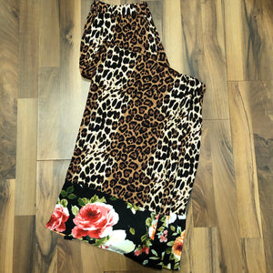Cheetah Lounge Pant with Floral Hem - Mix & Mingle Boutique