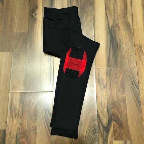 Black Knee Patch Legging - Mix & Mingle Boutique