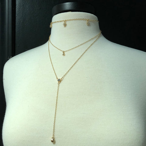 Gold Layered Sun Necklace - Mix & Mingle Boutique