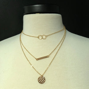 Gold Coin and Bar Necklace - Mix & Mingle Boutique