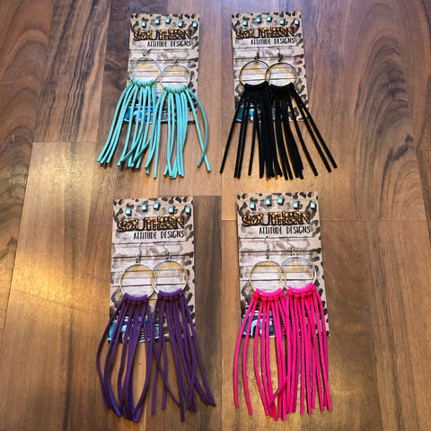 Leather Fringe Earring - Mix & Mingle Boutique
