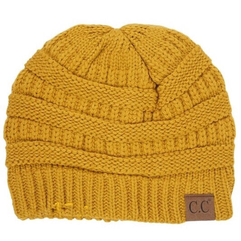 CC Beanie Mustard - Mix & Mingle Boutique