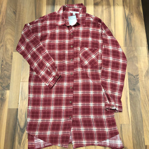 Red Plaid Long-sleeve Shirt - Mix & Mingle Boutique