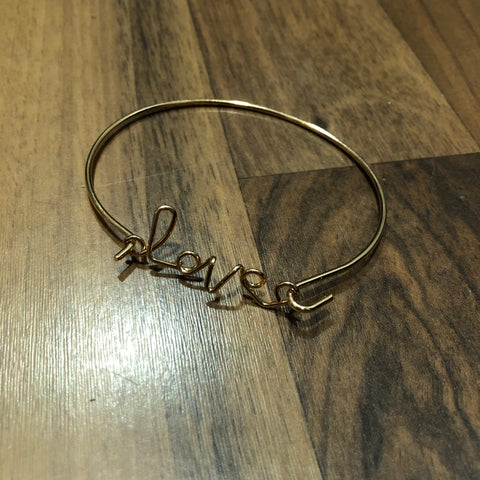 Gold 'LOVE' Bracelet - Mix & Mingle Boutique