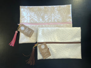 Ivory Makeup Bag - Mix & Mingle Boutique