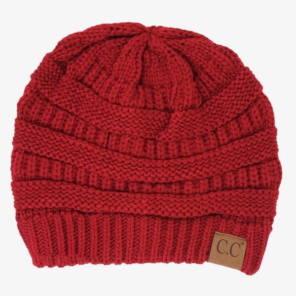 CC Beanie Burgundy - Mix & Mingle Boutique