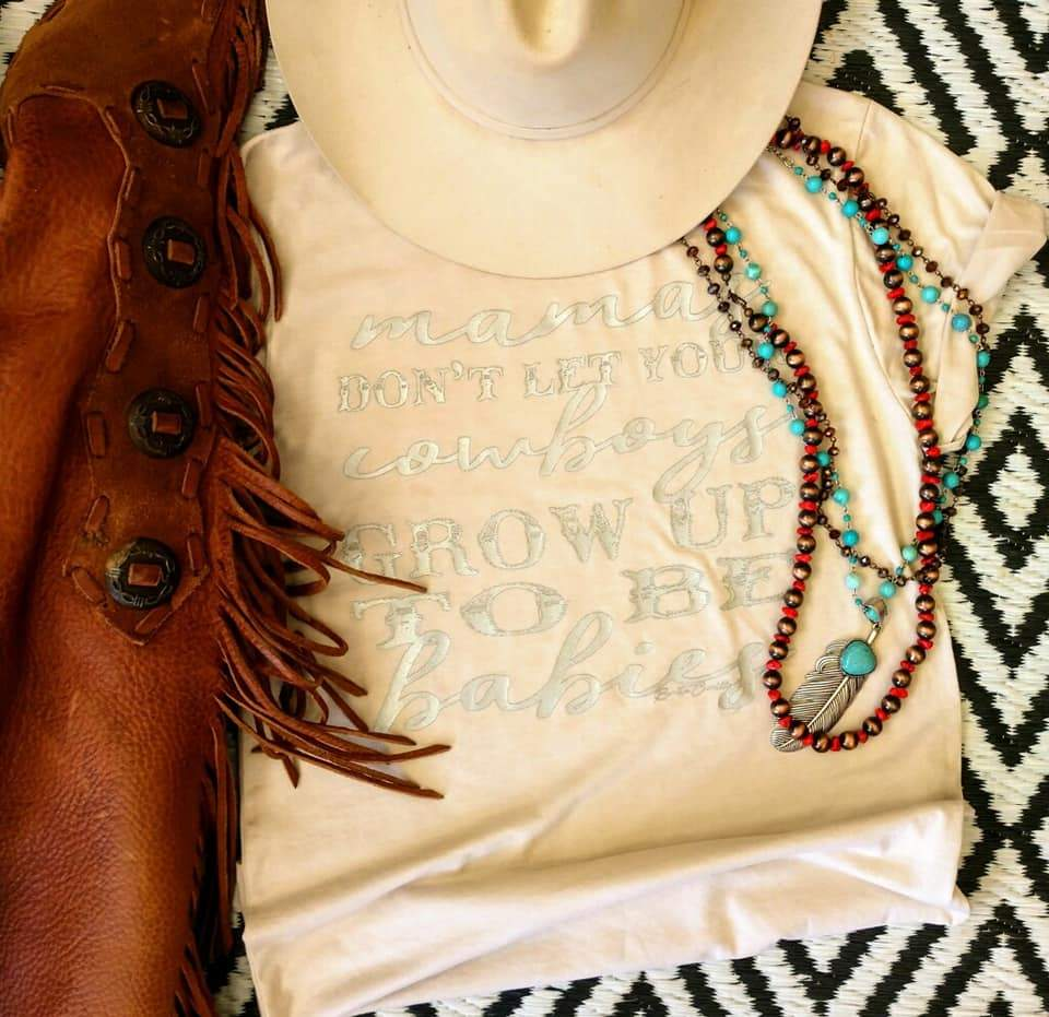 Mamas, Don't let your Cowboys... Metallic! - Mix & Mingle Boutique