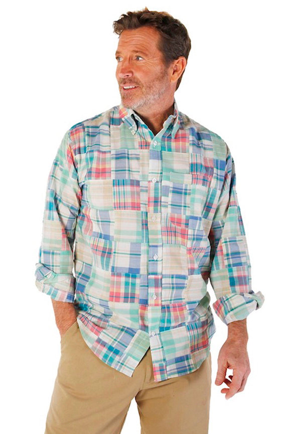 Men's Madras Long Sleeve Shirt - Cape