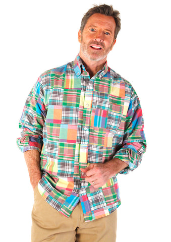 Men's Madras Long Sleeve Shirt