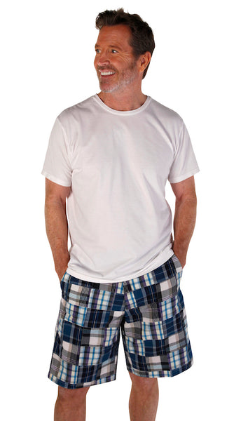 Men's Madras Bermuda Shorts - Aspen