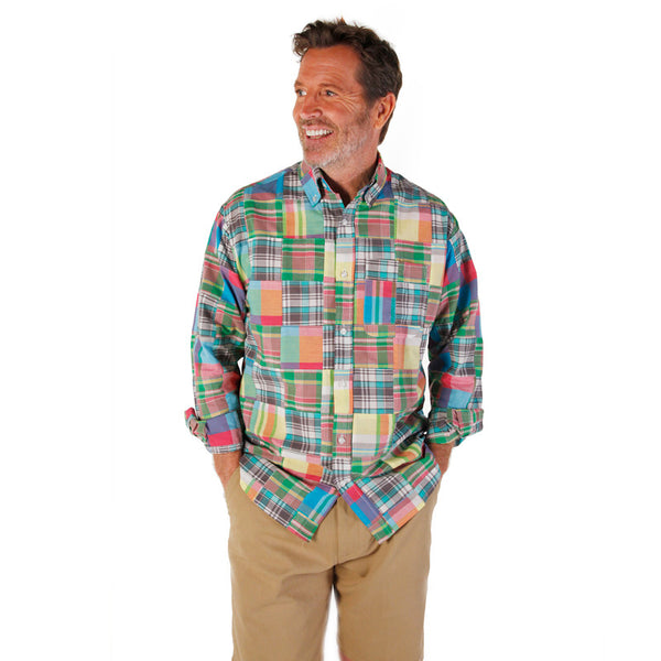 Men's Madras Long Sleeve Shirt - Lenox