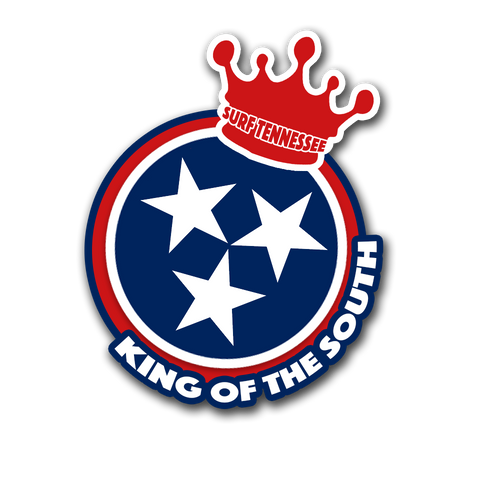 The Shelby 'King of the South' Sticker - surf tennessee tennessee shirts