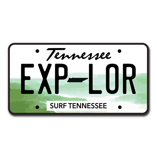 The Explore Vanity Plate Sticker - surf tennessee tennessee shirts