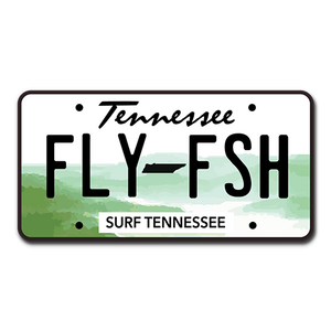 The Fly Fish Vanity Plate Sticker - surf tennessee tennessee shirts