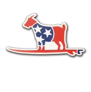 """Goat on a Stick"" Sticker - surf tennessee tennessee shirts"