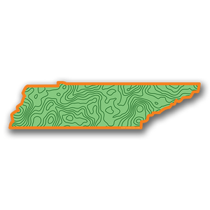 The 16th State Orange Topo Sticker - surf tennessee tennessee shirts