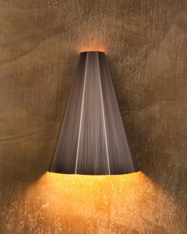 Wall Sconce-WSF, Faceted, Burnished copper