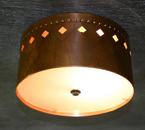 Ceiling Light - CFC, Cut Out #3, Ferric patina