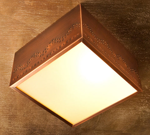 Ceiling Light - CFC, Santa Fe design, Medium Bronze patina