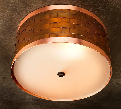 Ceiling Light - CFC, Weave design, Ferric Natural patina