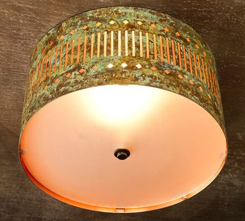 Ceiling Light - CFC, Slits design, Desert patina