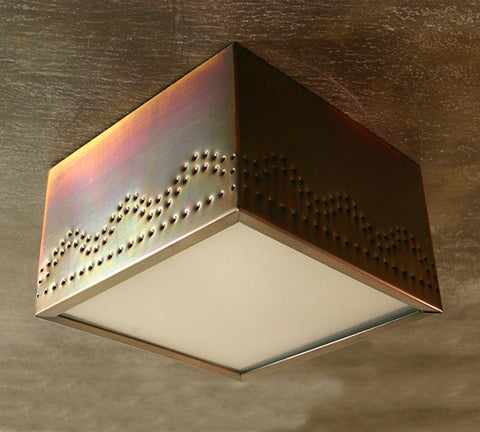 Ceiling Light - CFS, Santa Fe design, Iridescent patina