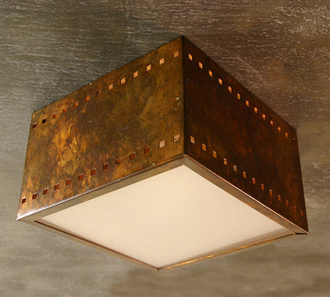 Ceiling Light - CFS, Cut Out #1,Ferric patina