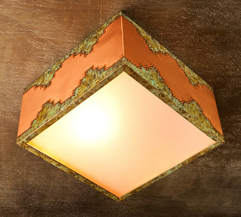 Ceiling Light - CFS,Mesa design, Desert-Natural Copper