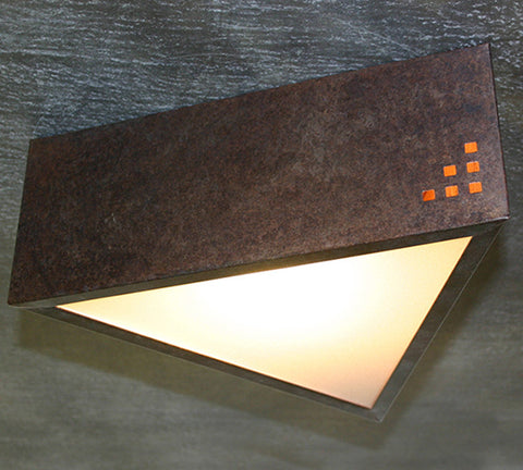 Ceiling Light - CFT, Cut Out #7,Rusty patina