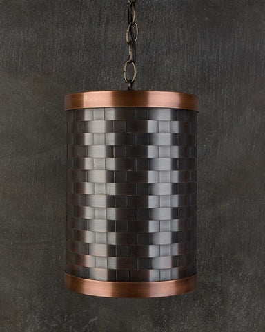 Pendant - CP Weave, Medium Bronze-Natural