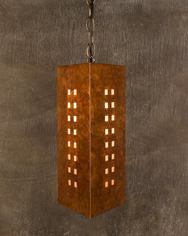 Pendant-WST-P, Windows-16, Ferric patina
