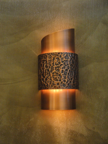 Wall Sconce-WZY-C,Hammered #1, Light Bronze