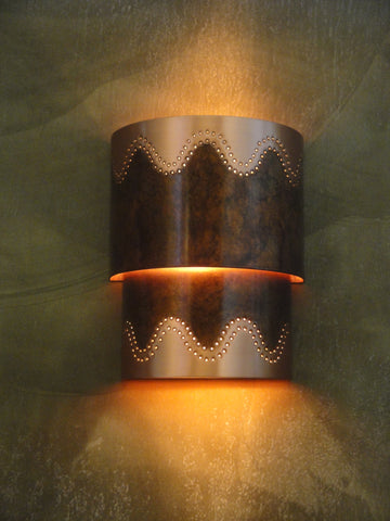 Wall Sconce-WSC, Santa Fe design, Ferric-Natural copper
