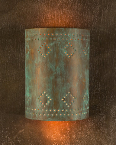 Wall Sconce- WS, Espana design, Hint of Green patina