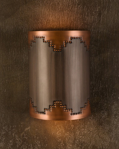 Wall Sconce- WS, Mesa design, Burnished Copper-Light Bronze patina