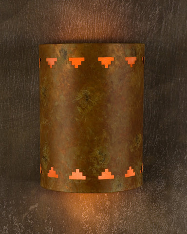 Wall Sconce- WS, Cut out #6, Black Desert patina