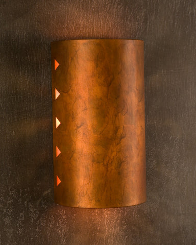 Wall Sconce- WS, Tri-Cut design, Ferric patina