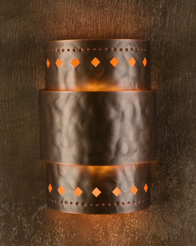 Wall Sconce-WSA,Cut out #3,Medium Bronze patina