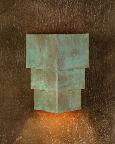 Wall Sconce-WSB-T, Hint of Green patina