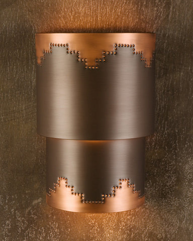 Wall Sconce-WSC, Mesa design, MediumBronze-Natural patina