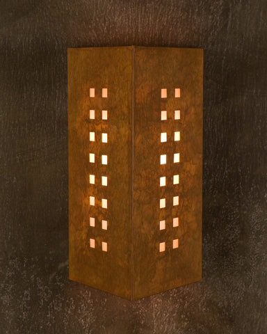 Wall sconce-WST, Windows-16, Ferric patina