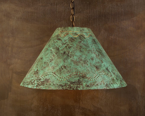 Lampshade - LS, Santa Fe design, Green patina