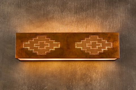Vanity Light - VAL, Navajo design, Ferric-Natural