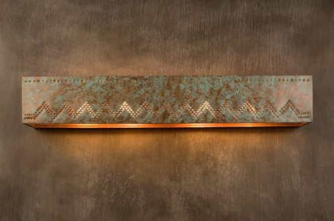 Vanity Light - VAL, Zig Zag design, Green patina