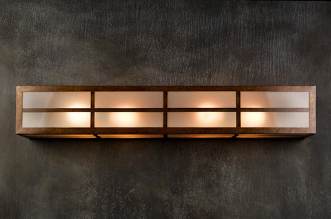 Vanity Light - VAL, Mission, Ferric patina