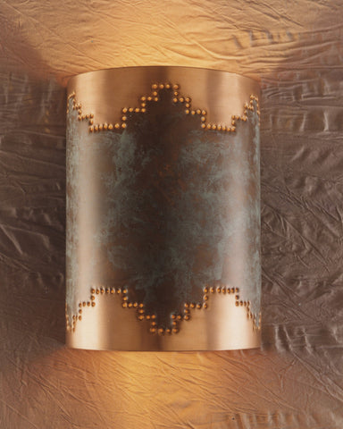 Wall Sconce - WS, Mesa, Hint of Green & Natural Copper