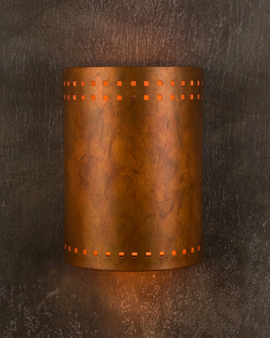 Wall Sconce - WS, Cut out #2, Ferric patina