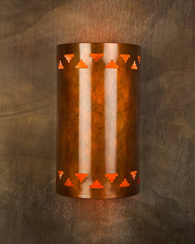Wall Sconce - WS, Cut out # 6 Double, Ferric patina